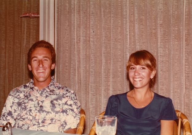 This was not our first date, but maybe four days later. Good grief, we were young
